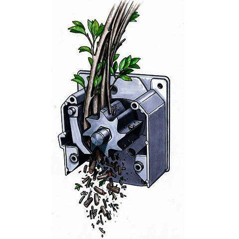 Садовый измельчитель для травы и веток своими руками видео